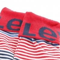 Afbeelding van Levi's Bodywear 983004001-082 Socks 168SF engineered stripe 2p Rood