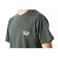 Afbeelding van Rib.Eye.Steak RES-FW17-009 T-shirt Script Groen