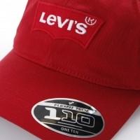 Afbeelding van Levi's 228054-87 Dad cap Batwing Rood