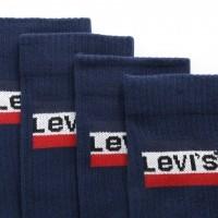 Afbeelding van Levi's Bodywear 982003001-264 Socks 120SF regular cut sportswear logo 2p Blauw