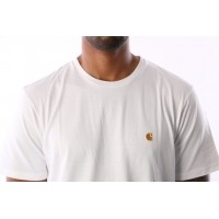 Afbeelding van Carhartt WIP I021949-0290 T-shirt Chase White/gold