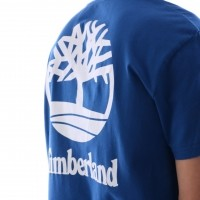 Afbeelding van Timberland CA1N3B-M68 T-shirt Tee with stacked tree Blauw