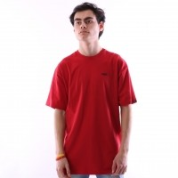 Vans VA3CZE-14A T-shirt Left chest logo Rood