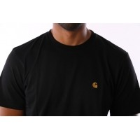 Afbeelding van Carhartt WIP I021949-8990 T-shirt Chase Black/gold