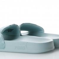 Afbeelding van Puma Ladies 365338-03 Slide sandal Leadcat satin Groen