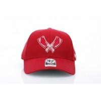 Afbeelding van Rib.Eye.Steak X 47 Brand XX-MVP864WBV-RD Strapback cap MVP cleaver Rood