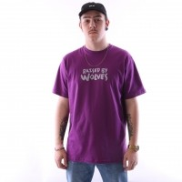 raised by wolves tag logo t-shirt Purple Jersey