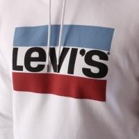 Afbeelding van Levi's 19491-0025 Hooded Graphic po B Wit