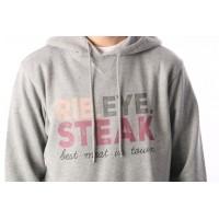 Afbeelding van Rib.Eye.Steak RES-FW17-004 Hooded RES text Grijs