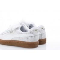 Afbeelding van Puma Ladies 366809-01 Sneakers Basket heart perf gum Wit