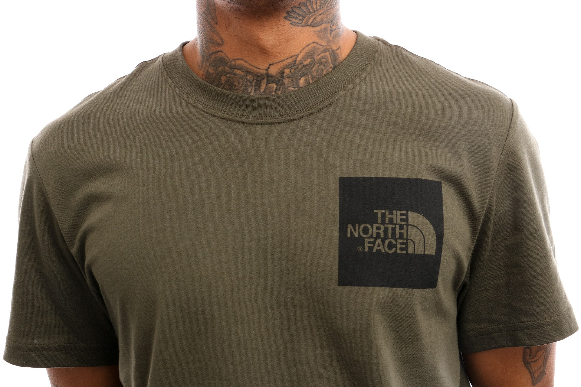 f15dc7cb44056f Afbeelding van The North Face M S S Fine Tee T0Ceq5 T Shirt New Taupe Green