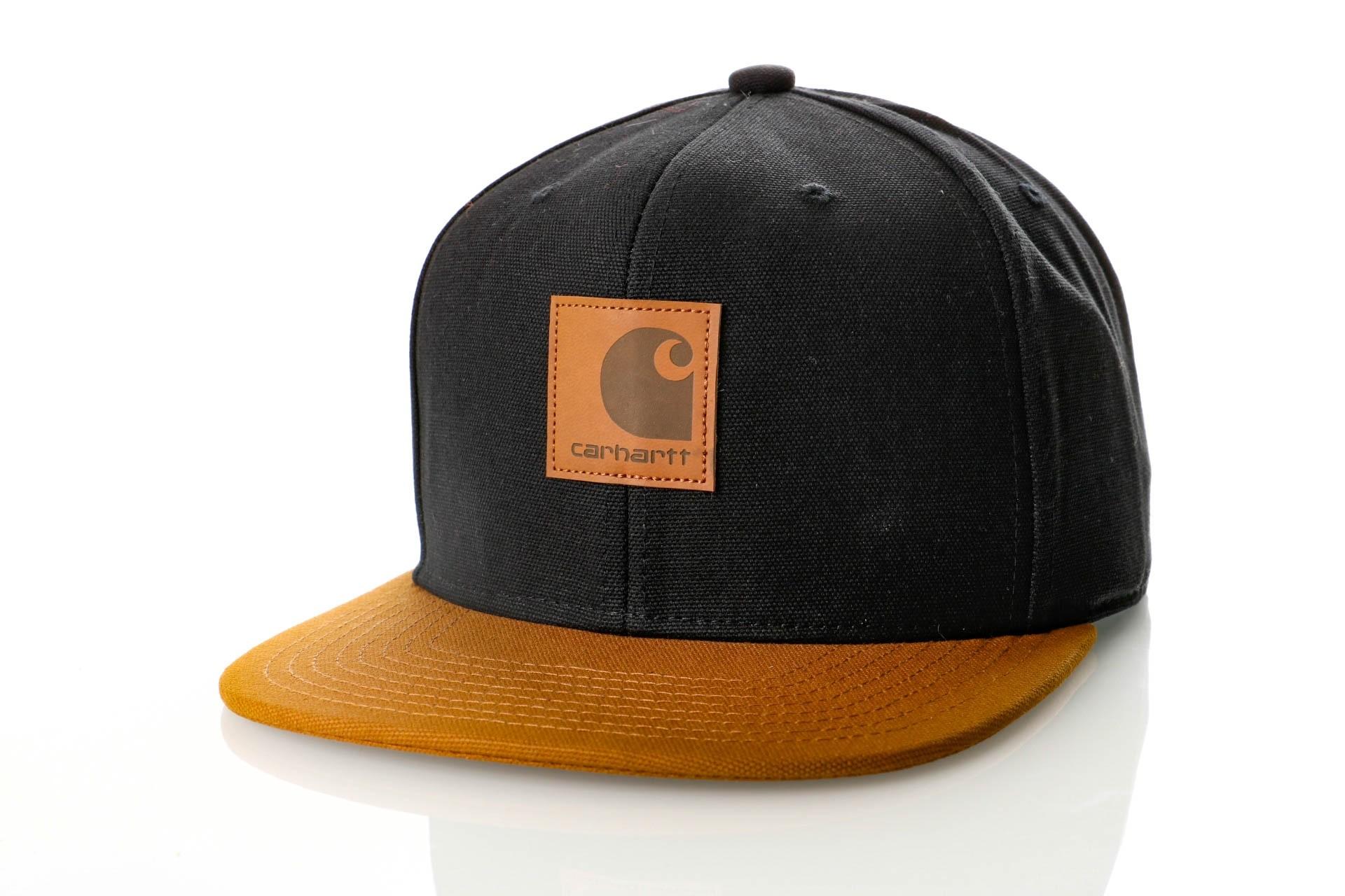 Afbeelding van Carhartt WIP Logo Cap Bi-Colored I025735 Snapback cap Black / Hamilton Brown