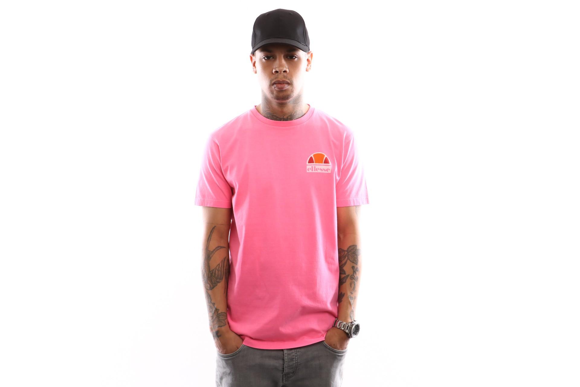 Foto van Ellesse Cuba Shb06831 T Shirt Neon Pink