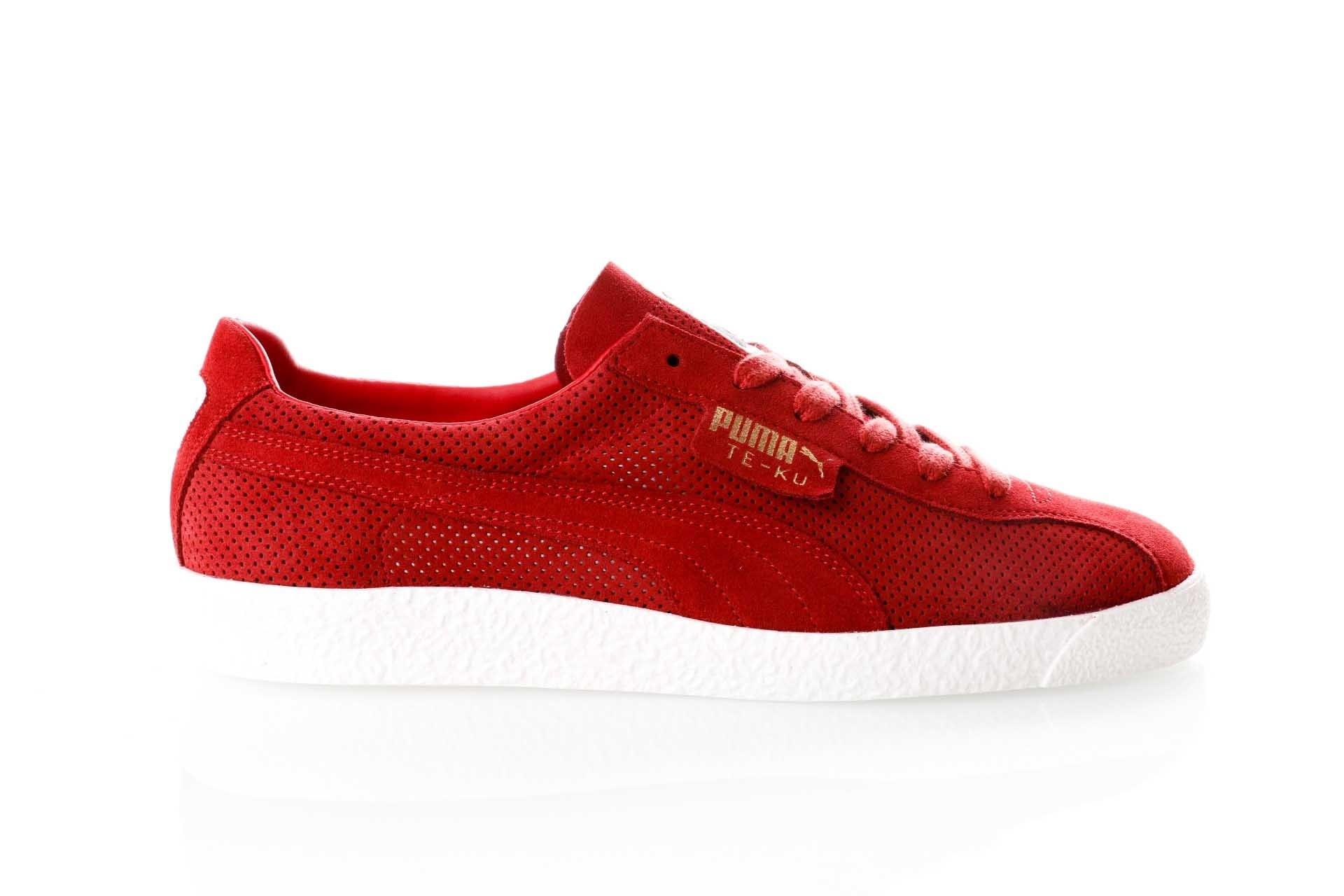 Foto van Puma Te-Ku Summer 365422 02 Sneakers Red Dahlia - Puma White