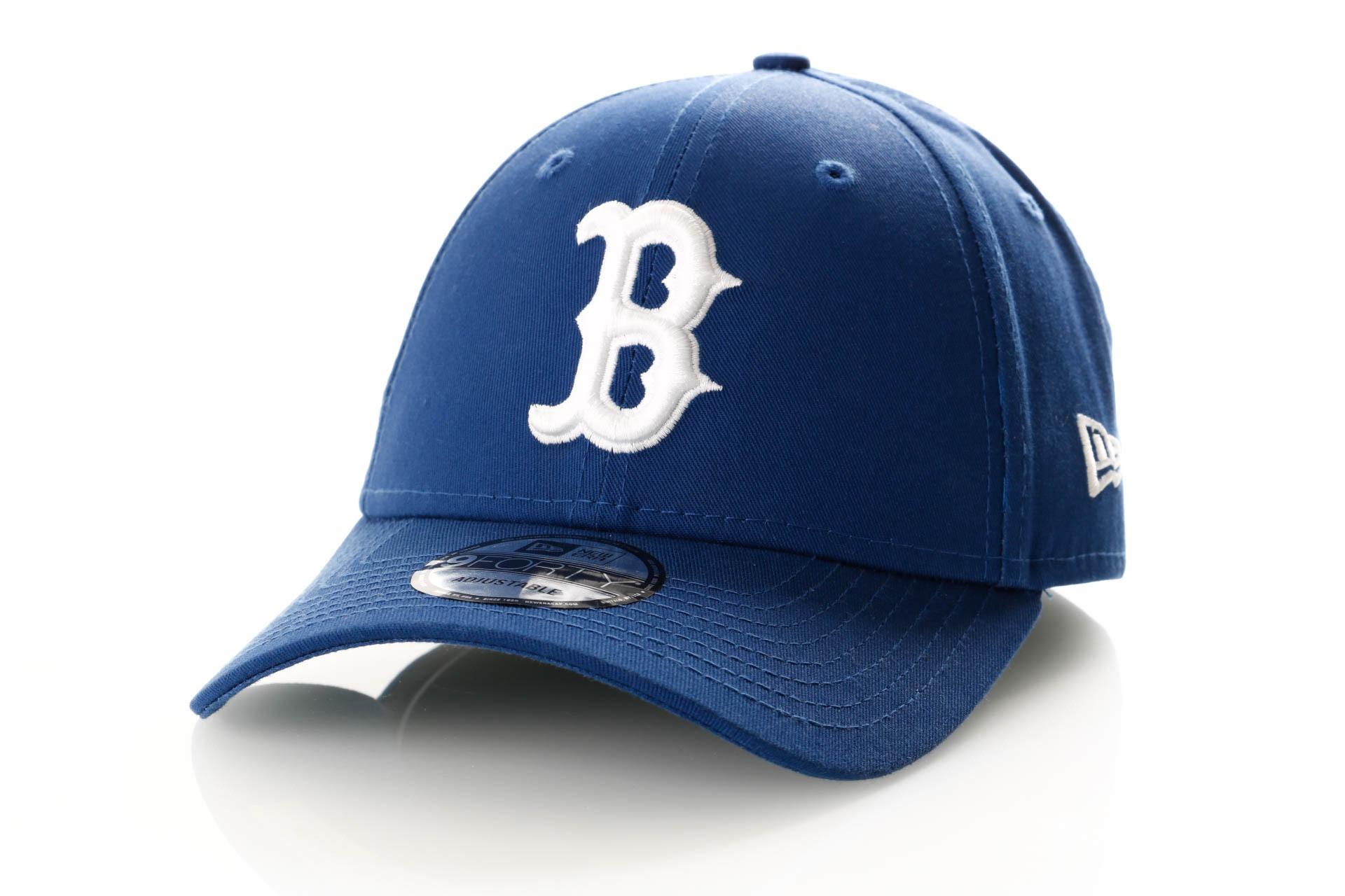 Foto van New Era League Essential 9Forty 11945657 Dad Cap Royal/Optic White Boston Red Sox