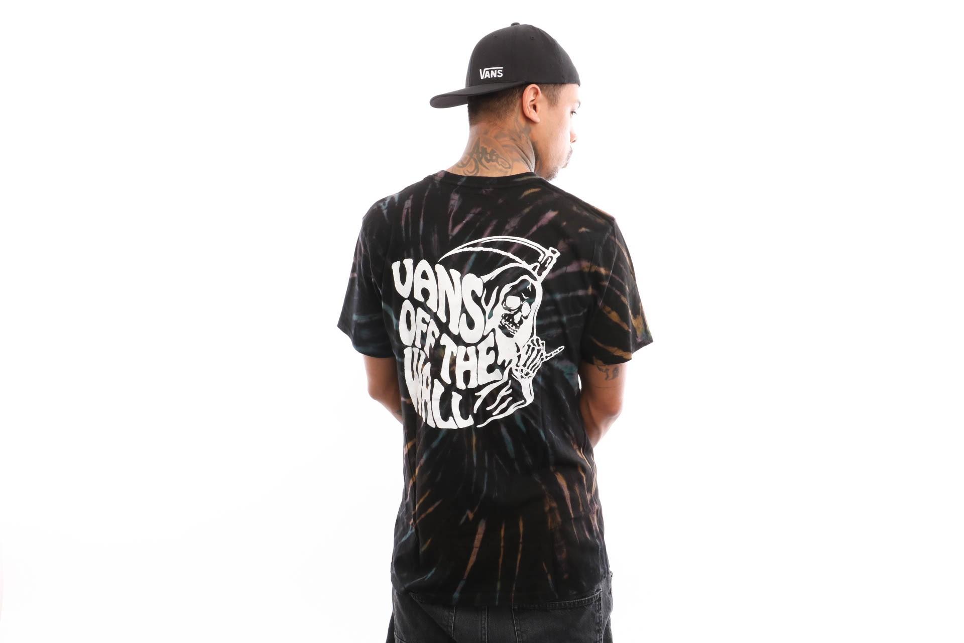 Foto van Vans Tie Dye Reaper Ss VA3HQTBLK T shirt Black