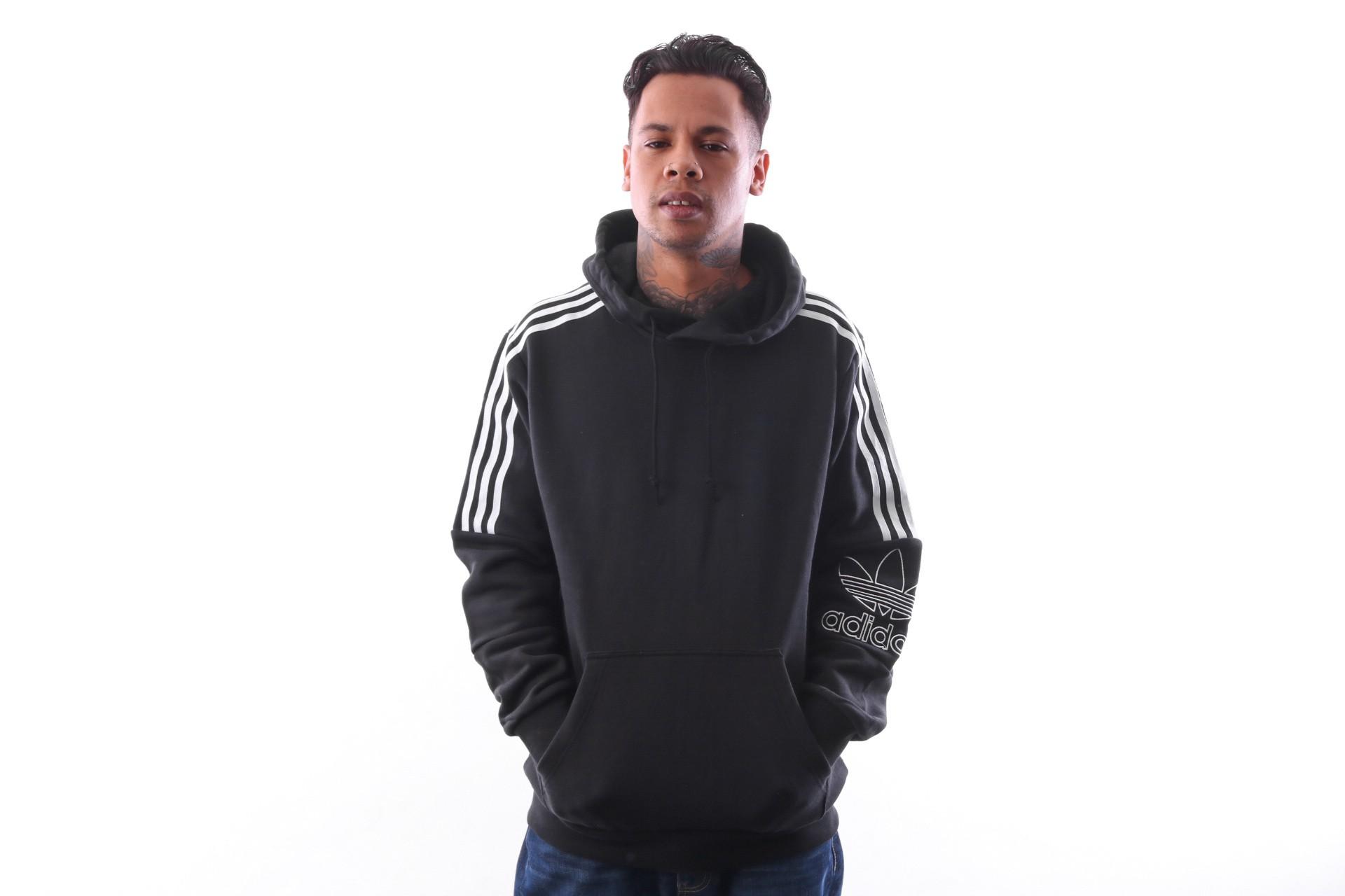 Foto van Adidas OUTLINE HOODIE DX3850 Hooded black