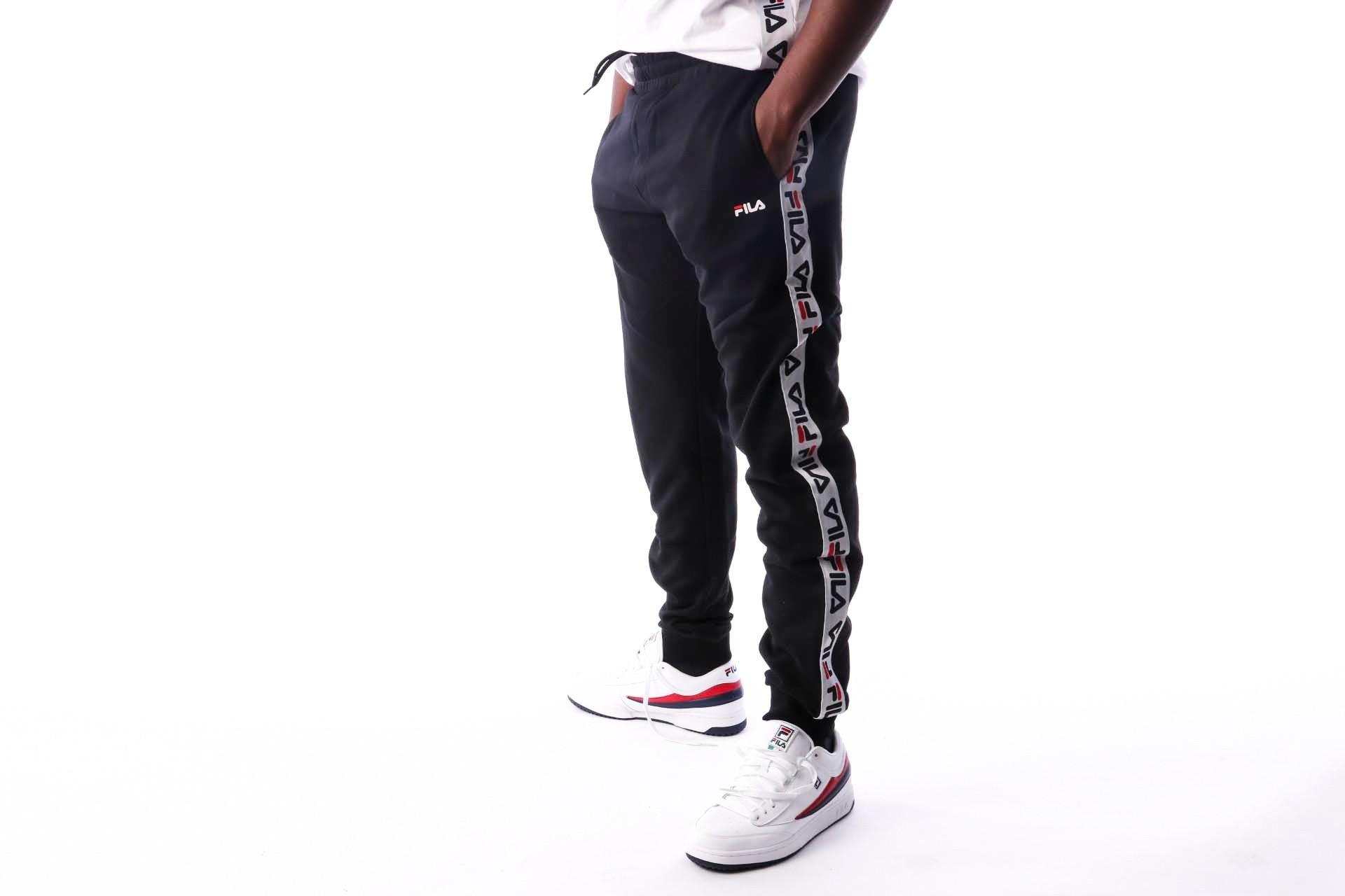 Afbeelding van Fila TADEO Tape Sweat Pants 682365 Trainingsbroek black