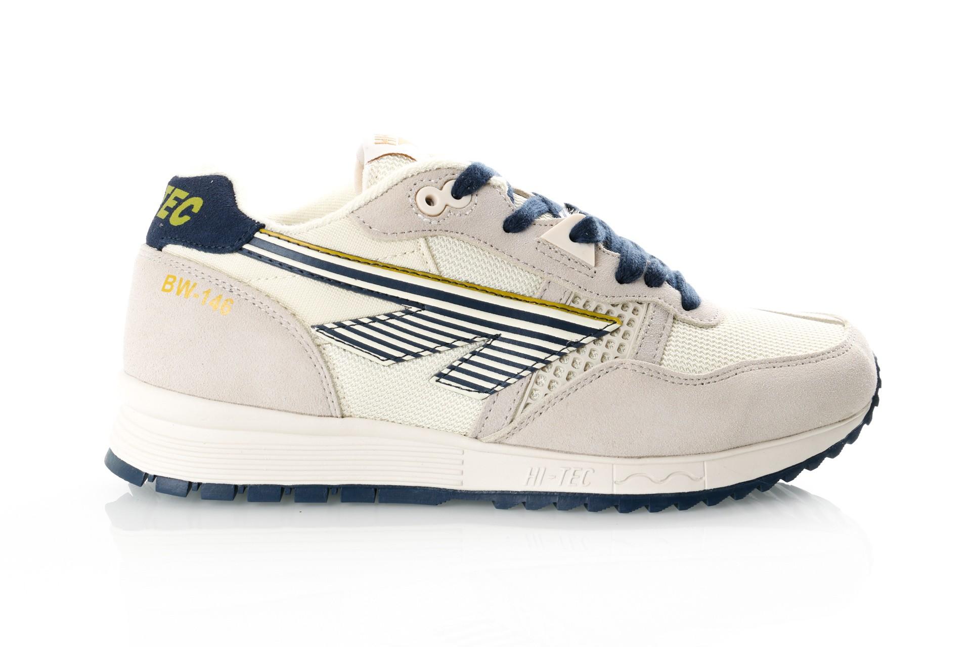 Foto van Hi-Tec Bw 146 S010002/011 Sneakers Off White/Navy/Gold