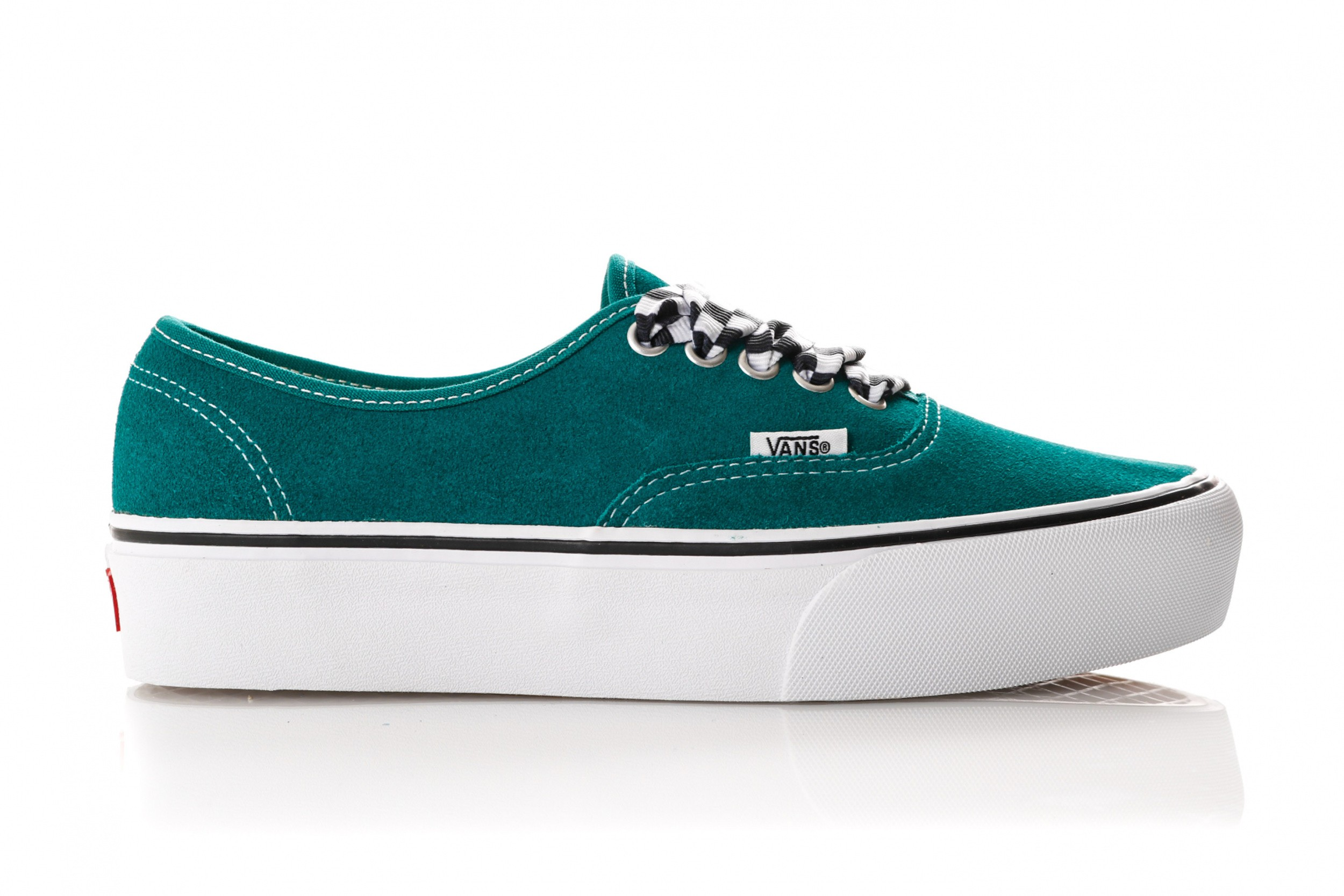 d25d171aeef Vans Ua Authentic Platform 2.0 Vn0A3Av8S1W Sneakers (Checkerboard Lace)  Quetzal Green/True White