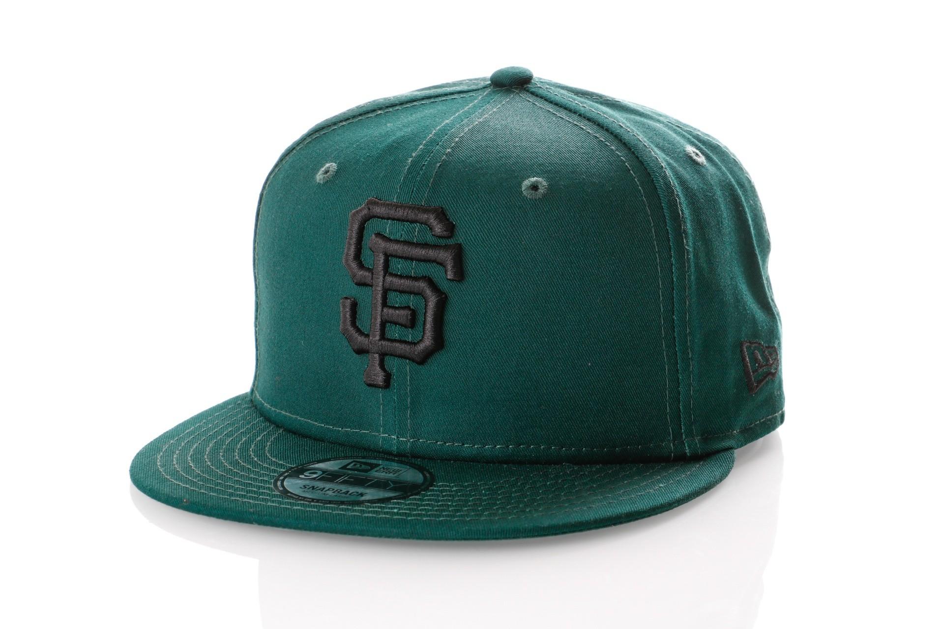 Foto van New Era LEAGUE ESSENTIAL 9FIFTY SAN FRANCISCO GIANTS 11794685 Snapback Cap DARK GREEN/BLACK MLB