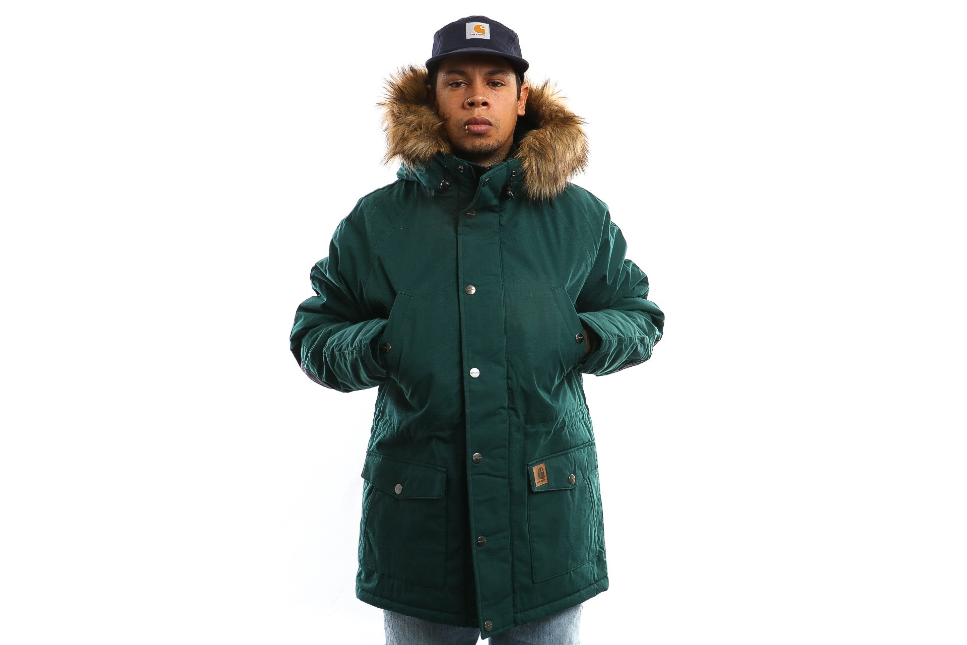 Foto van Carhartt Wip Trapper Parka I021869 Jacket Dark Fir / Black