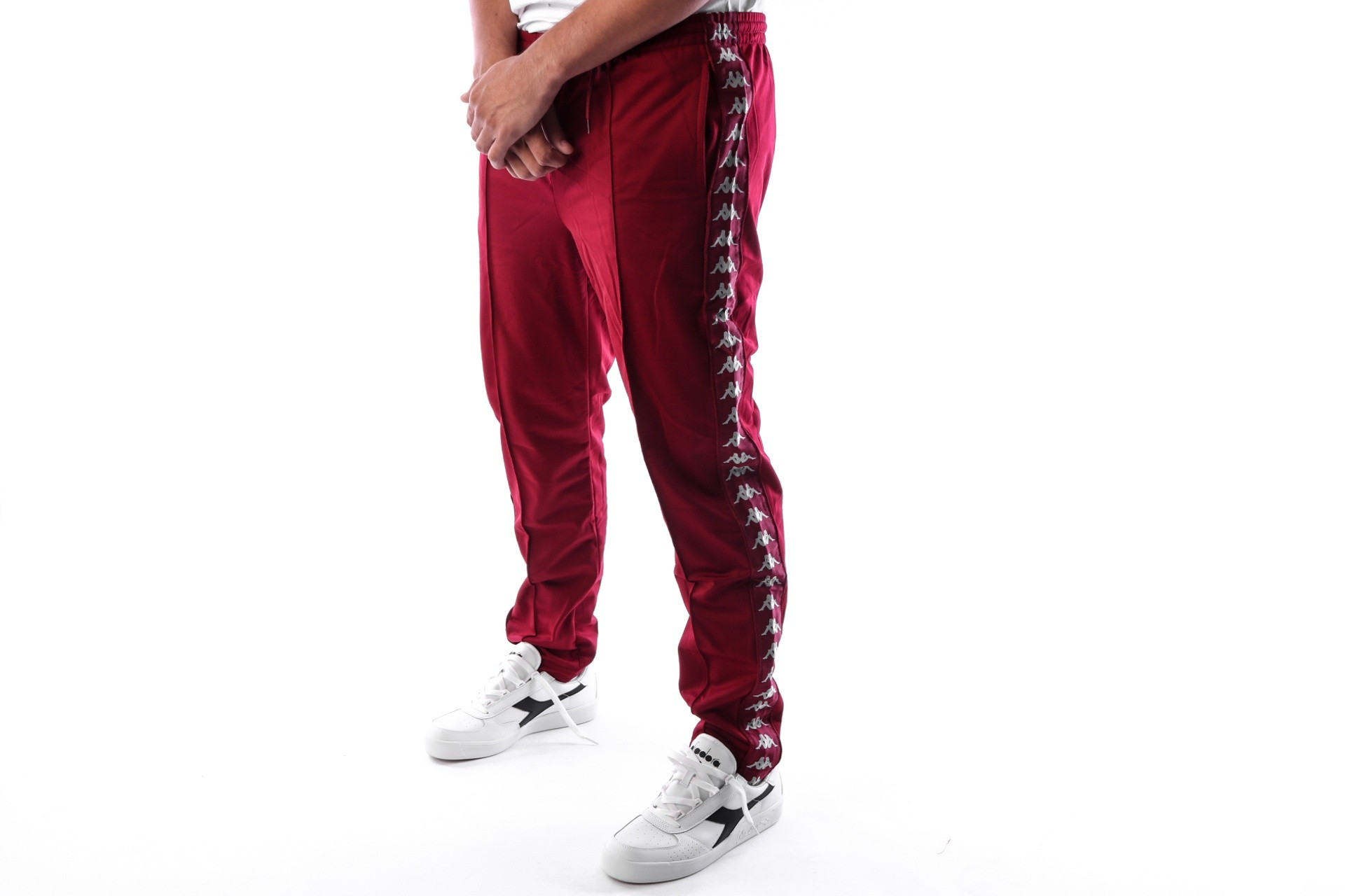 Foto van Kappa Banda Astoria Slim 301EFS0 Trainingsbroek Red Bordeaux-Grey