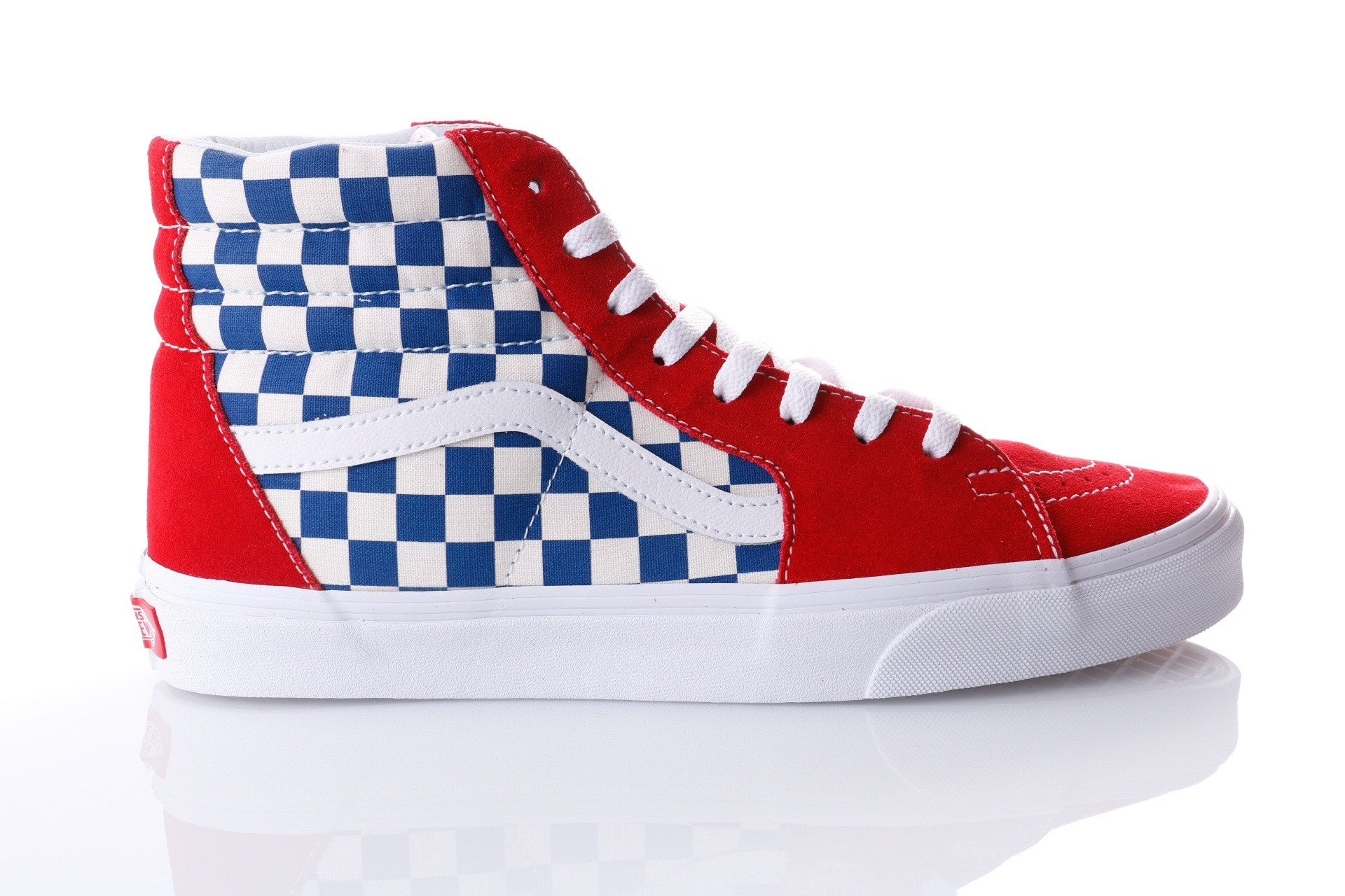 Foto van Vans UA SK8-Hi VA38GEU8H Sneakers (BMX Checkerboard) true blue/red