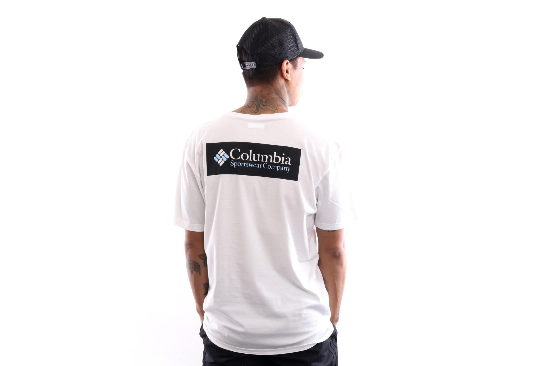 Foto van Columbia North Cascades Tee Back logo 1834041100 T shirt White