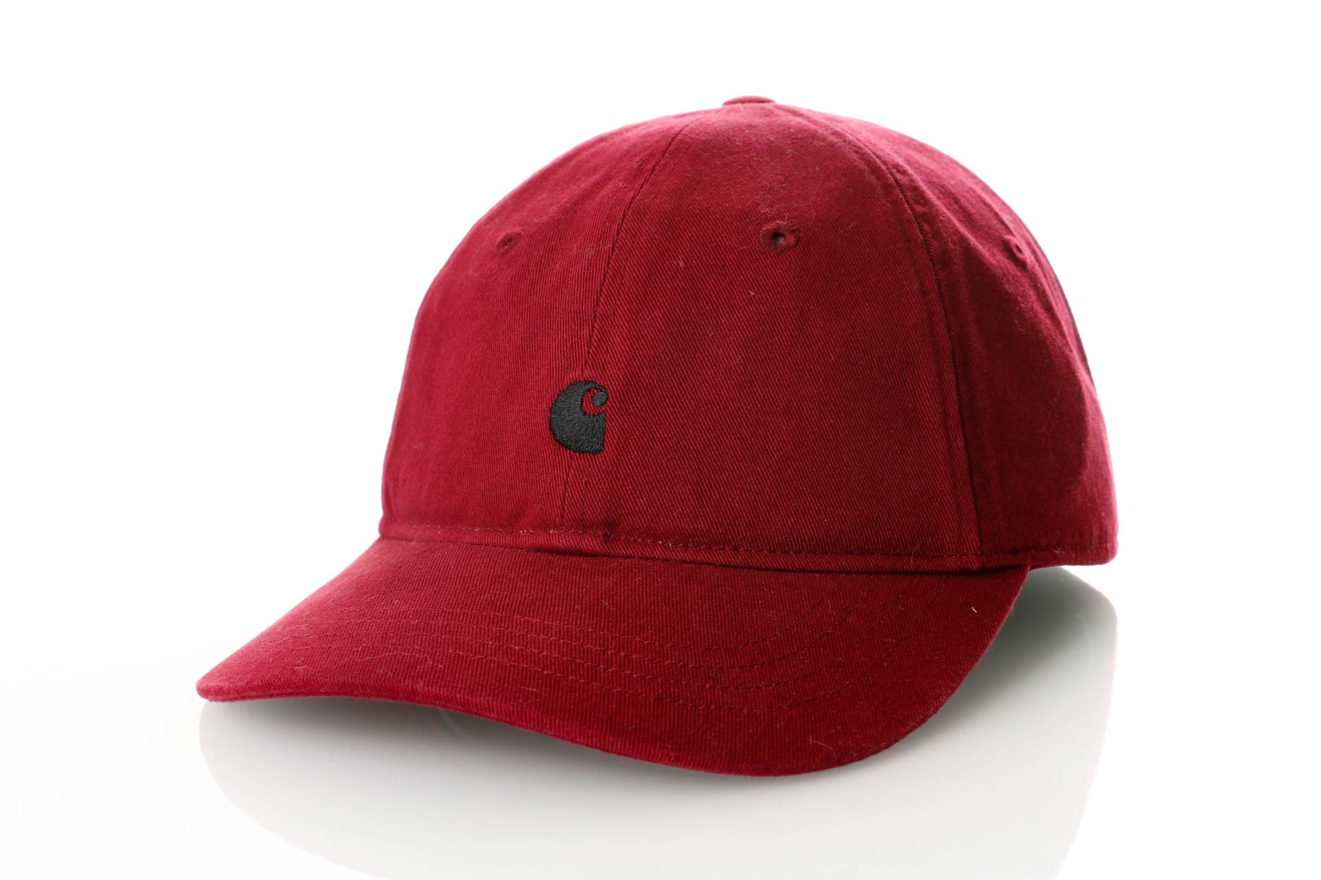Foto van Carhartt WIP Madison Logo Cap (6 Minimum) I023750 Dad Cap Mulberry / Black