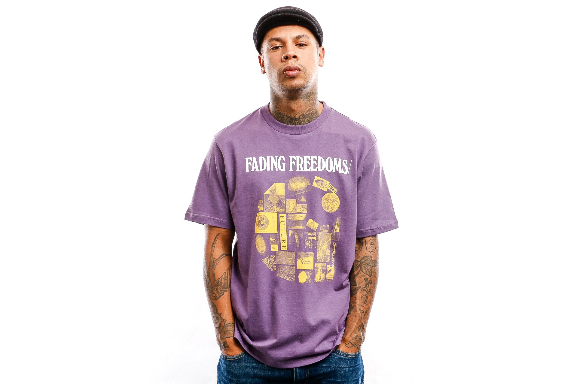 Foto van Carhartt WIP T shirt S/S Fading T-Shirt Dusty Mauve I027103