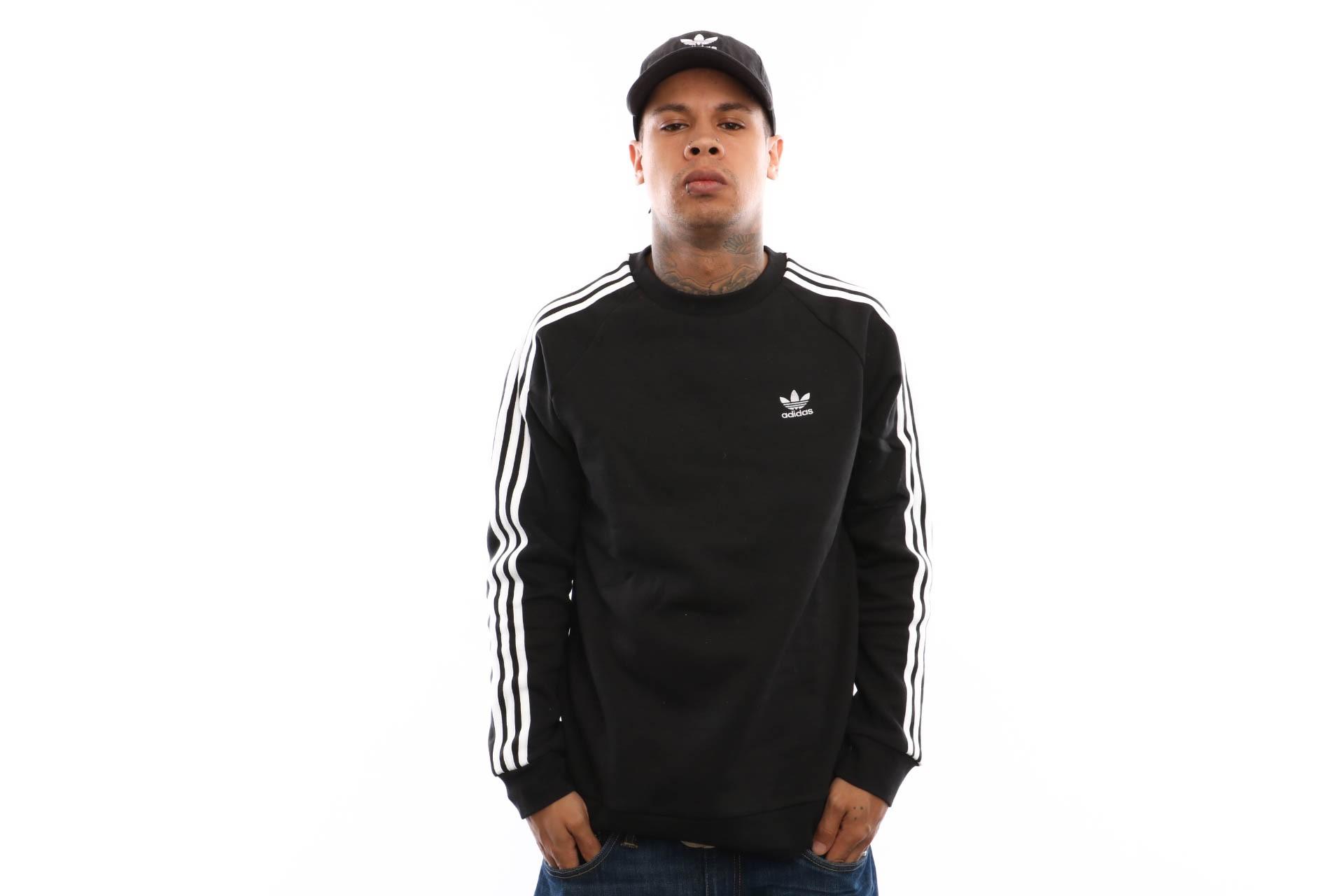 Foto van Adidas 3-Stripes Crew Dv1555 Crewneck Black