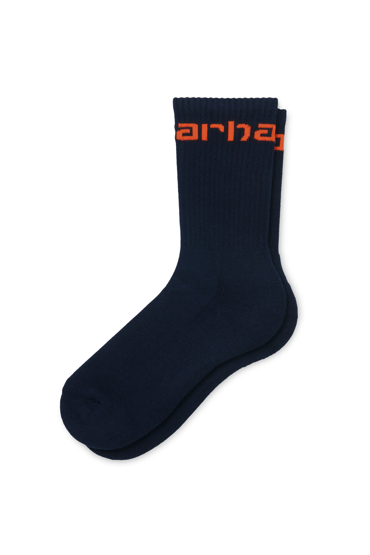 Foto van Carhartt Sokken Carhartt Socks Dark Navy / Safety Orange I027705
