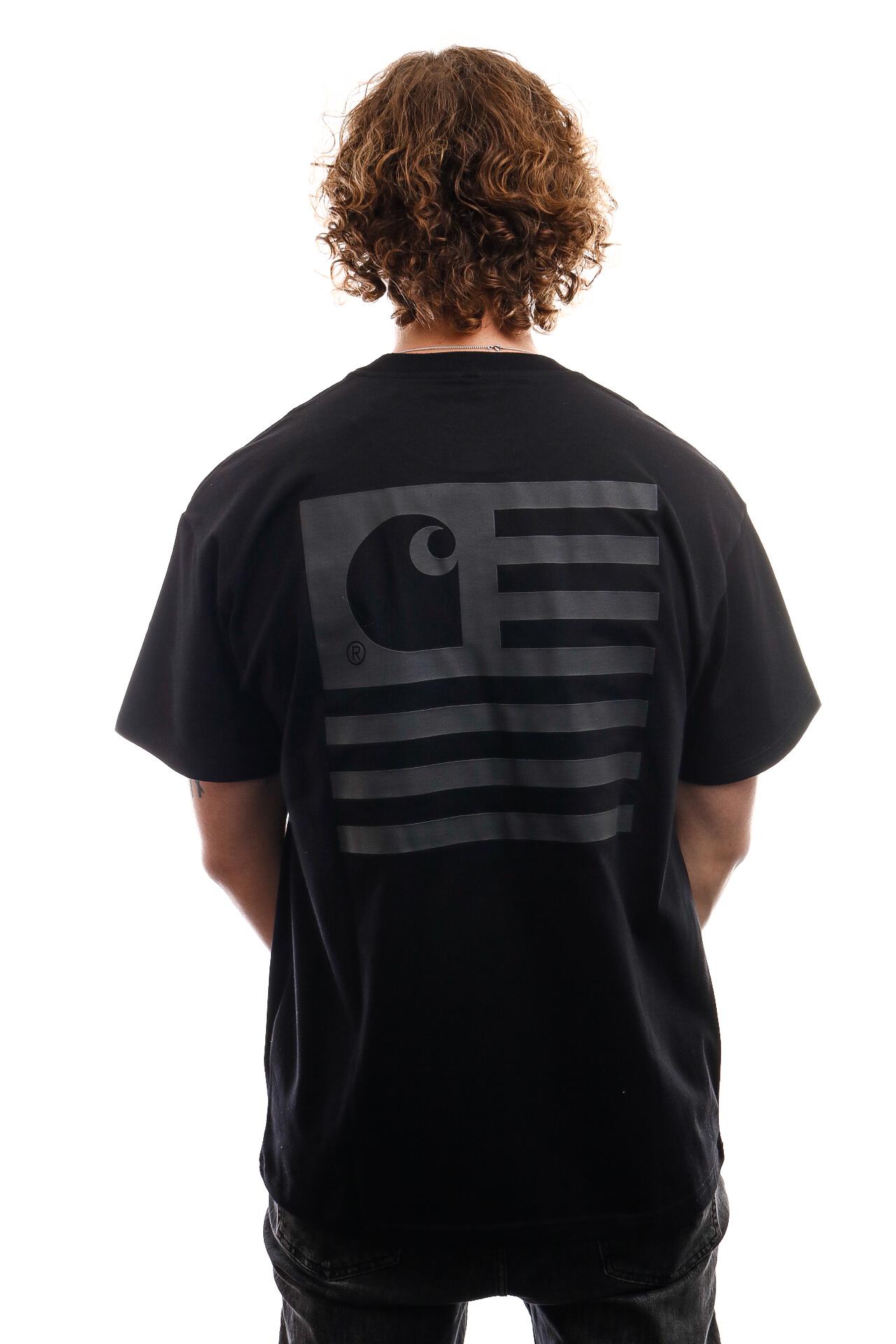 Foto van Carhartt T-Shirt S/S State T-Shirt Black / Black I028434
