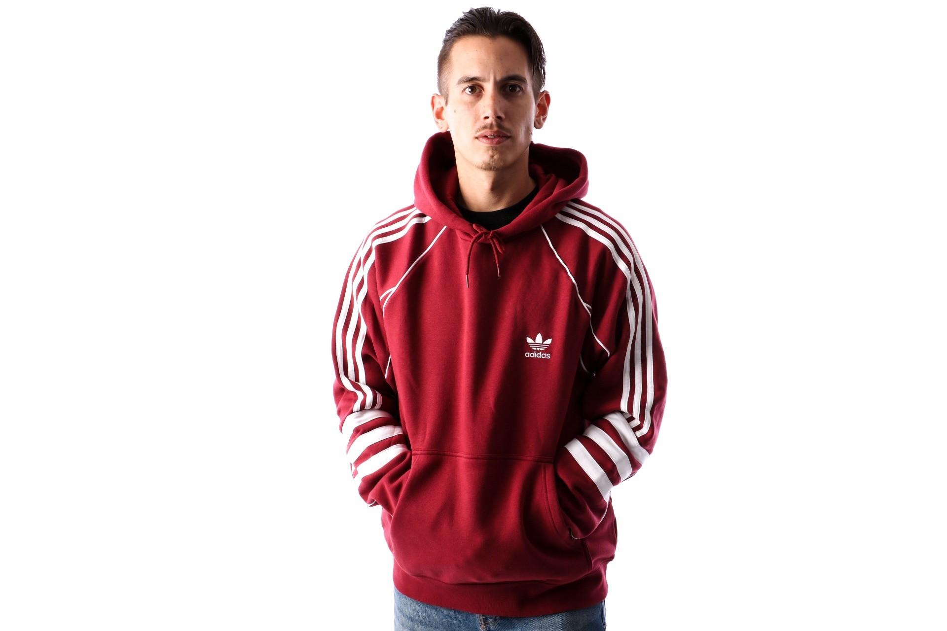 Foto van Adidas AUTH HODDY DJ2859 hoodie NOBLE MAROON