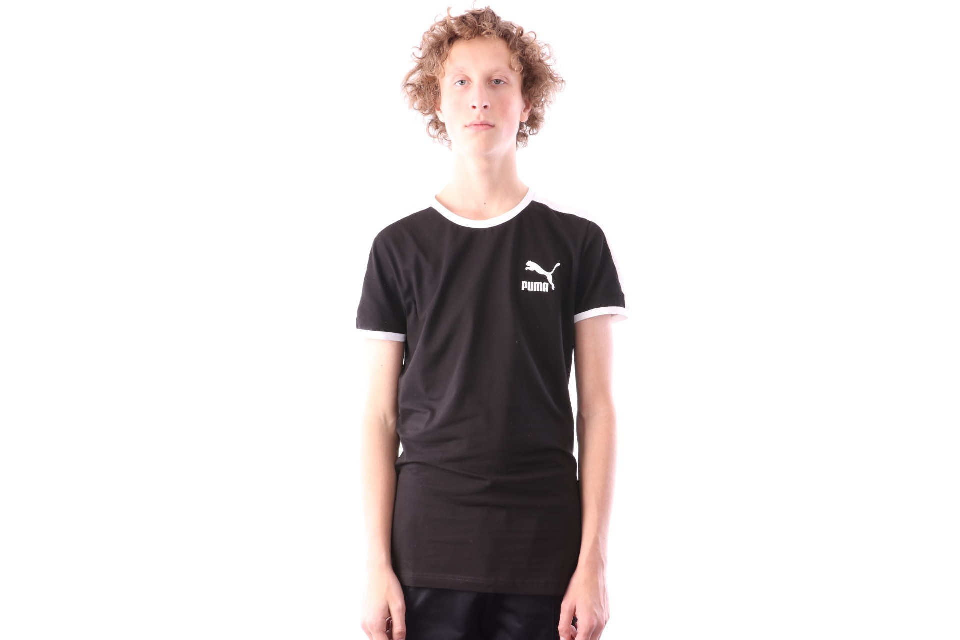 Foto van Puma Iconic T7 Tee 577979 T shirt Cotton Black