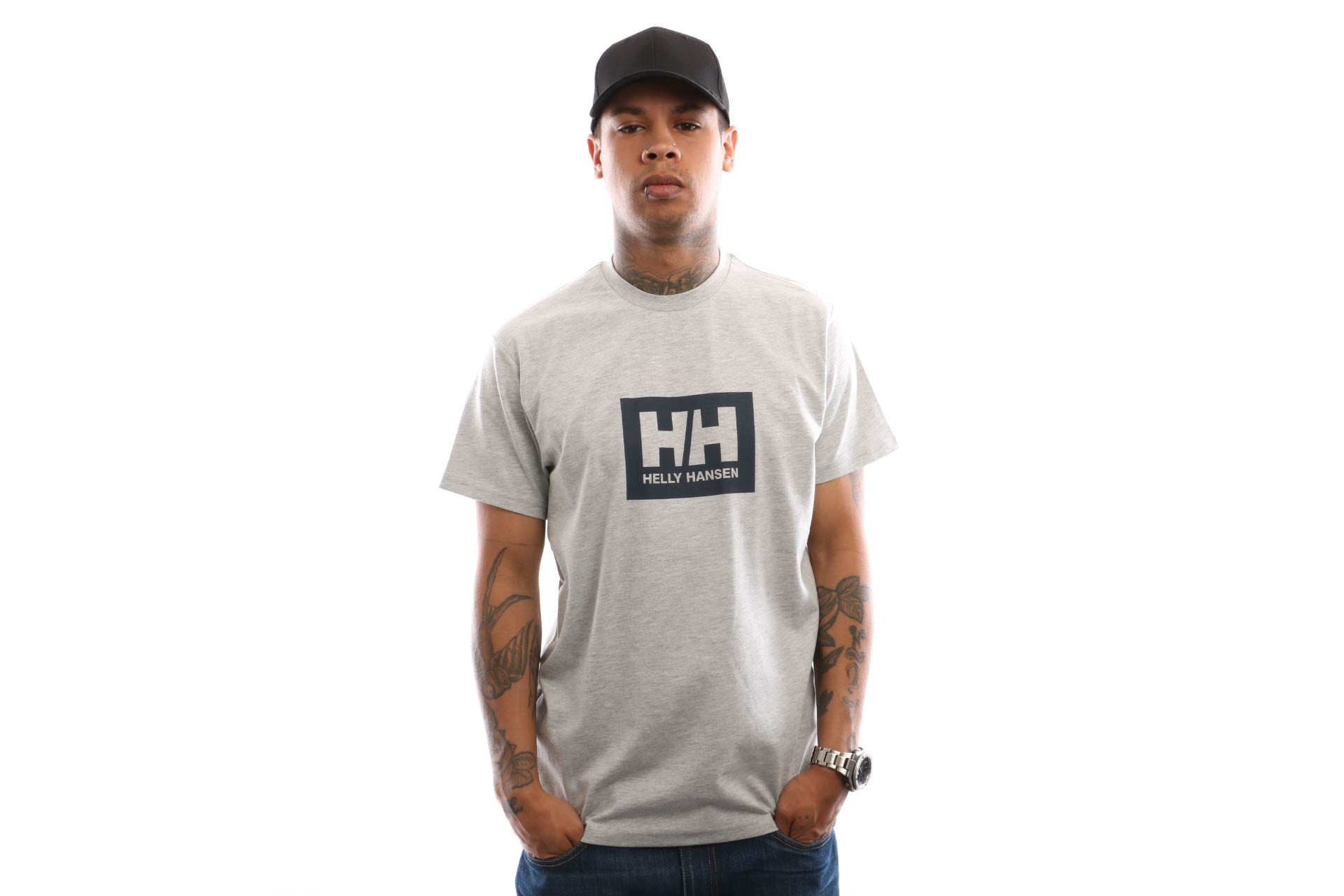 Foto van Helly Hansen Tokyo T-Shirt 53285 T Shirt Grey Melange