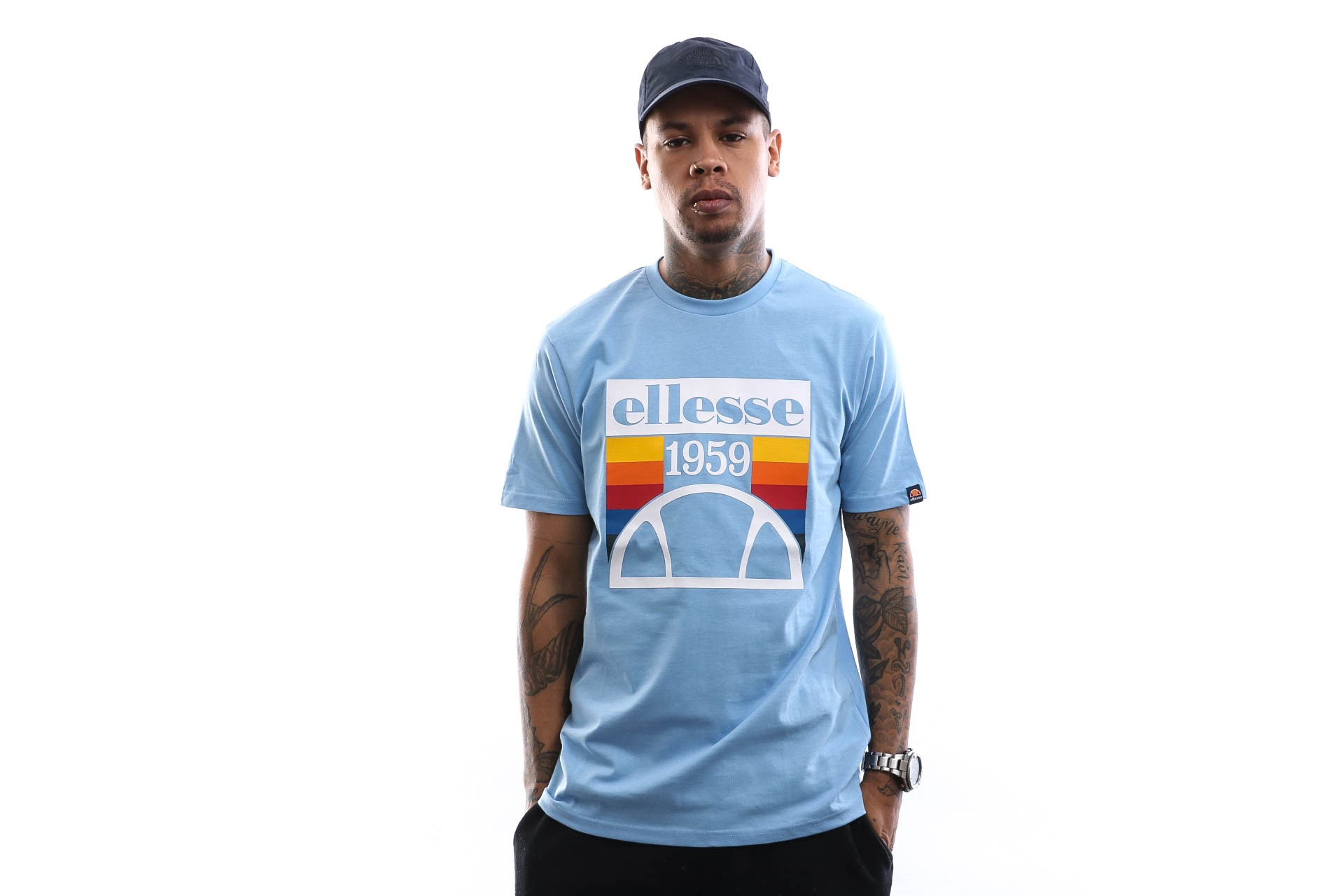 Foto van Ellesse T-shirt Pirozzi Light-Blue SHE08533