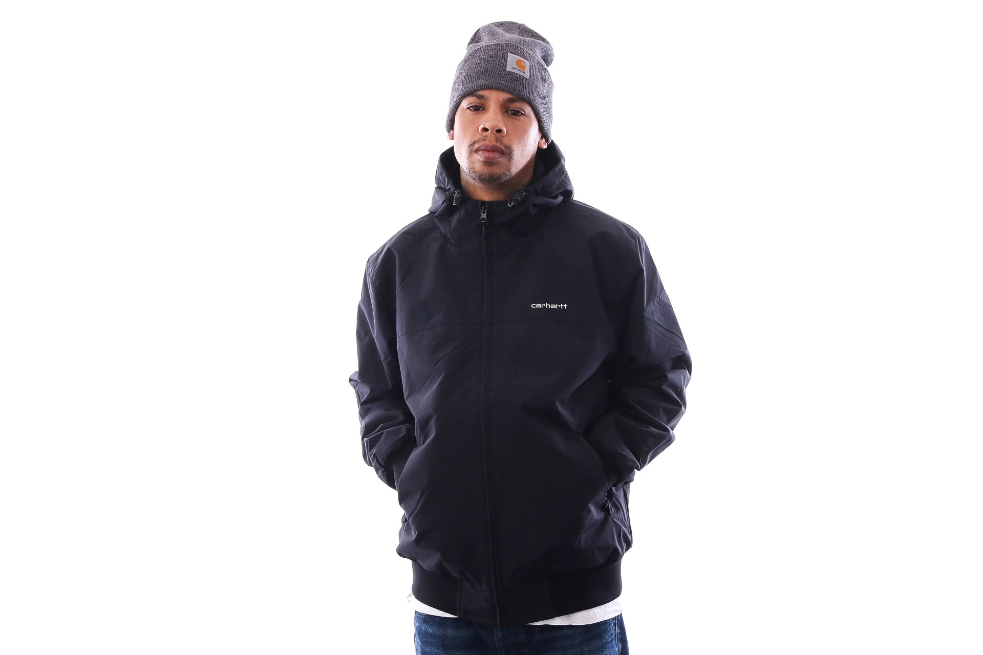 Foto van Carhartt WIP Hooded Sail Jacket I022721 Jackets Black / White