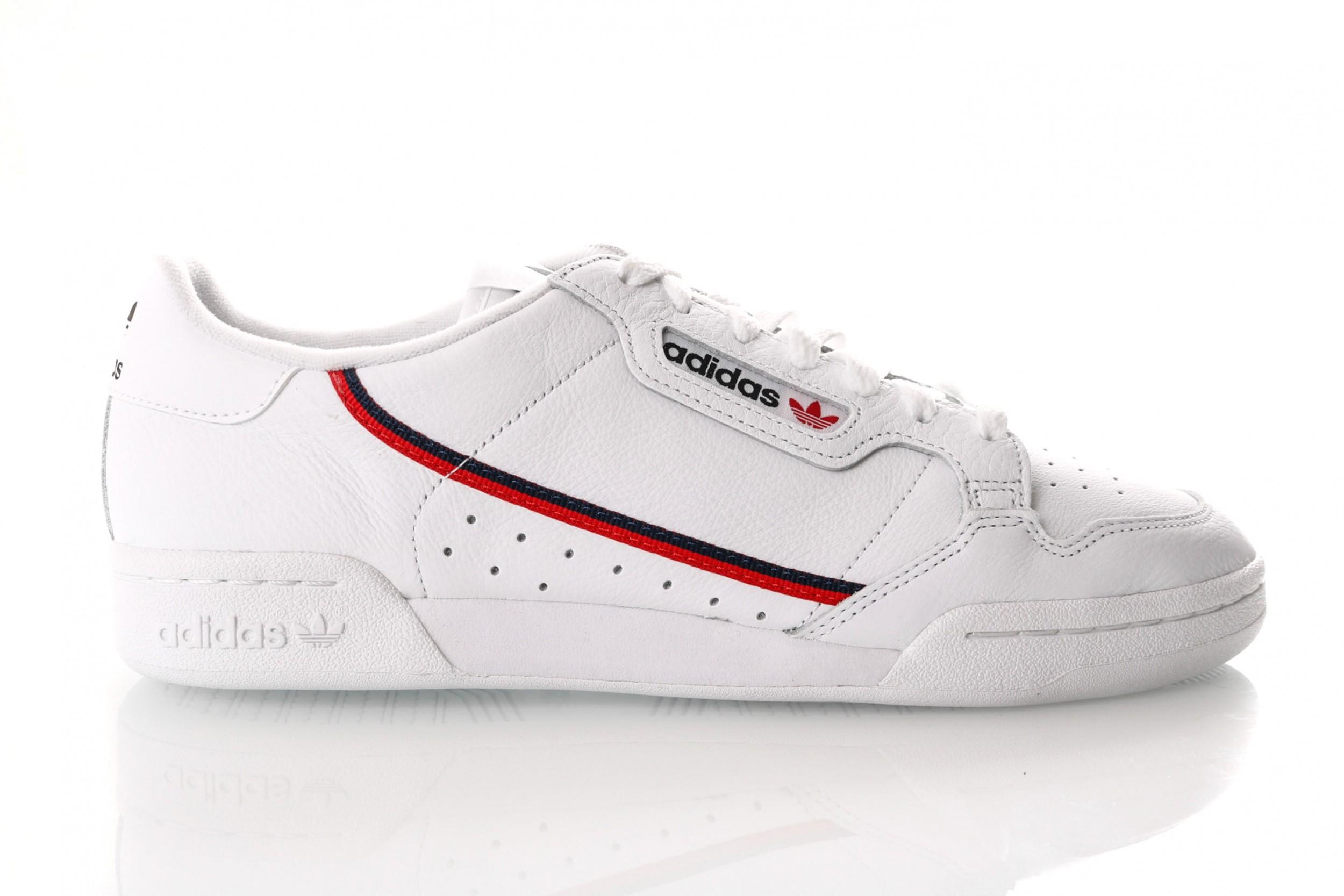 Foto van Adidas Continental 80 G27706 Sneakers Ftwr White/Scarlet/Collegiate Navy