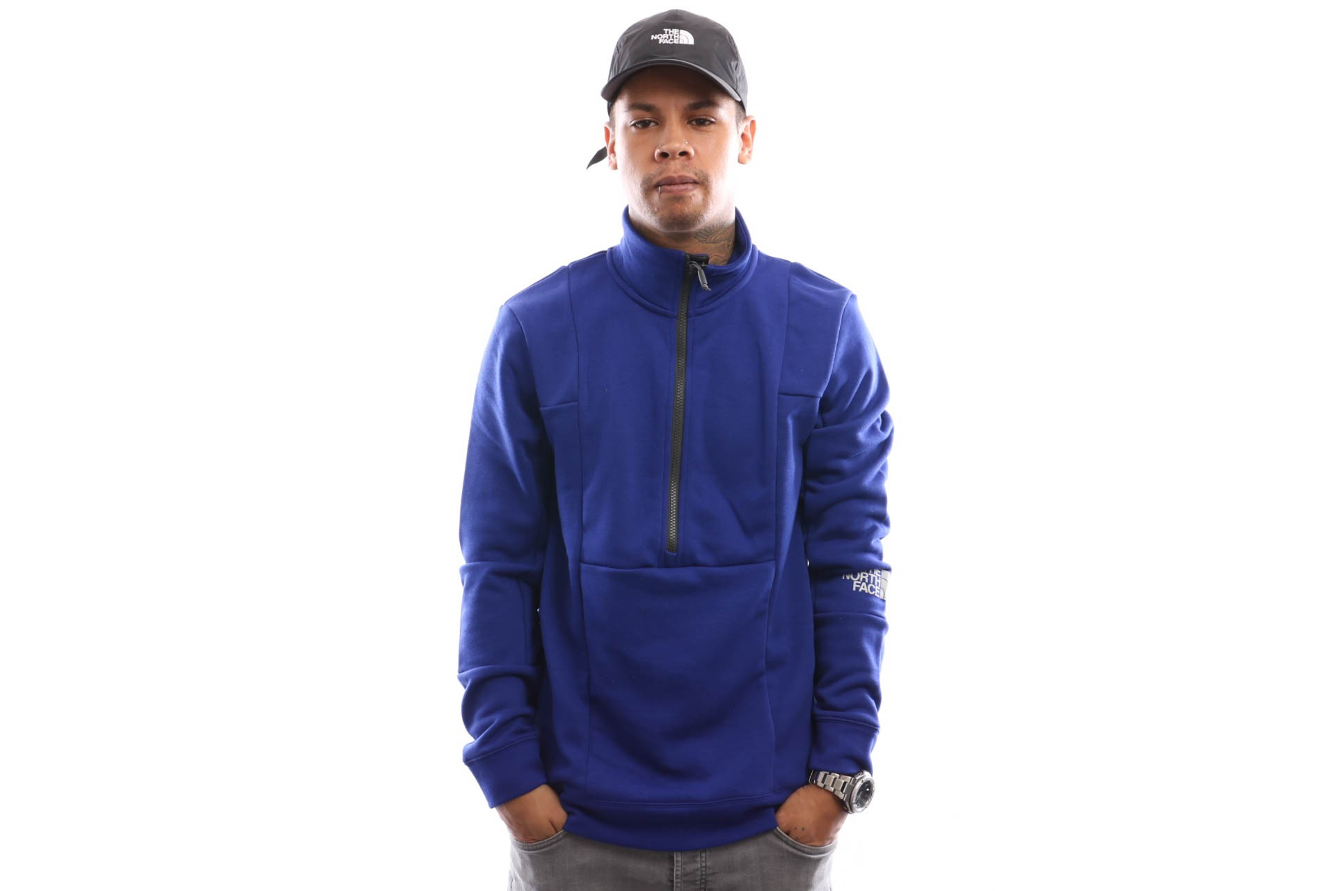 Foto van The North Face M Lht 1/4 Zip T93S3F Crewneck 1/4 Zip Lapis Blue