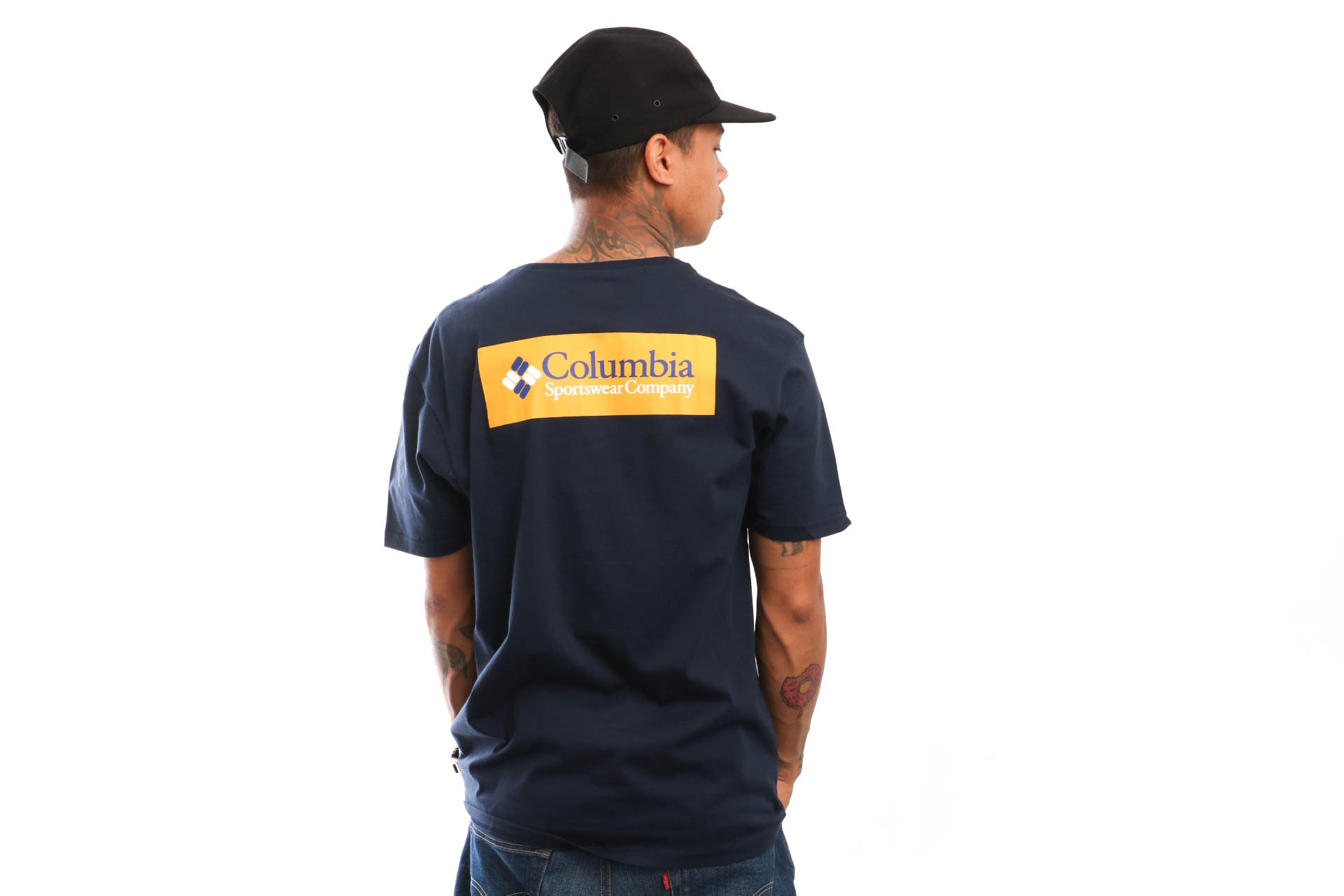 Foto van Columbia North Cascades Tee Back Logo 1834041464 T Shirt Collegiate Navy Stinger