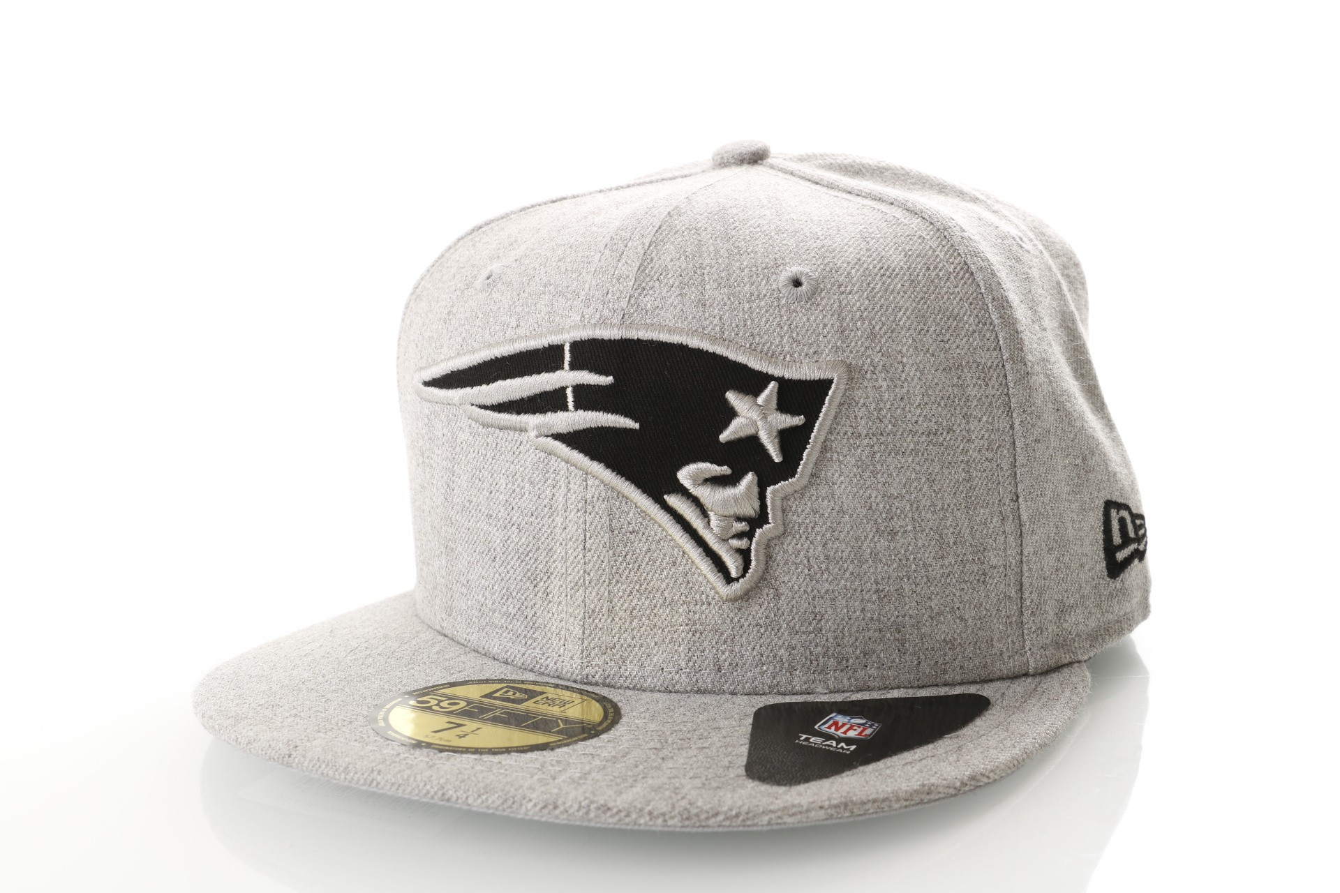 Foto van New Era Nfl Heather 5950 New England Patriots 11794649 Fitted Cap Heather Gray/Black Nfl