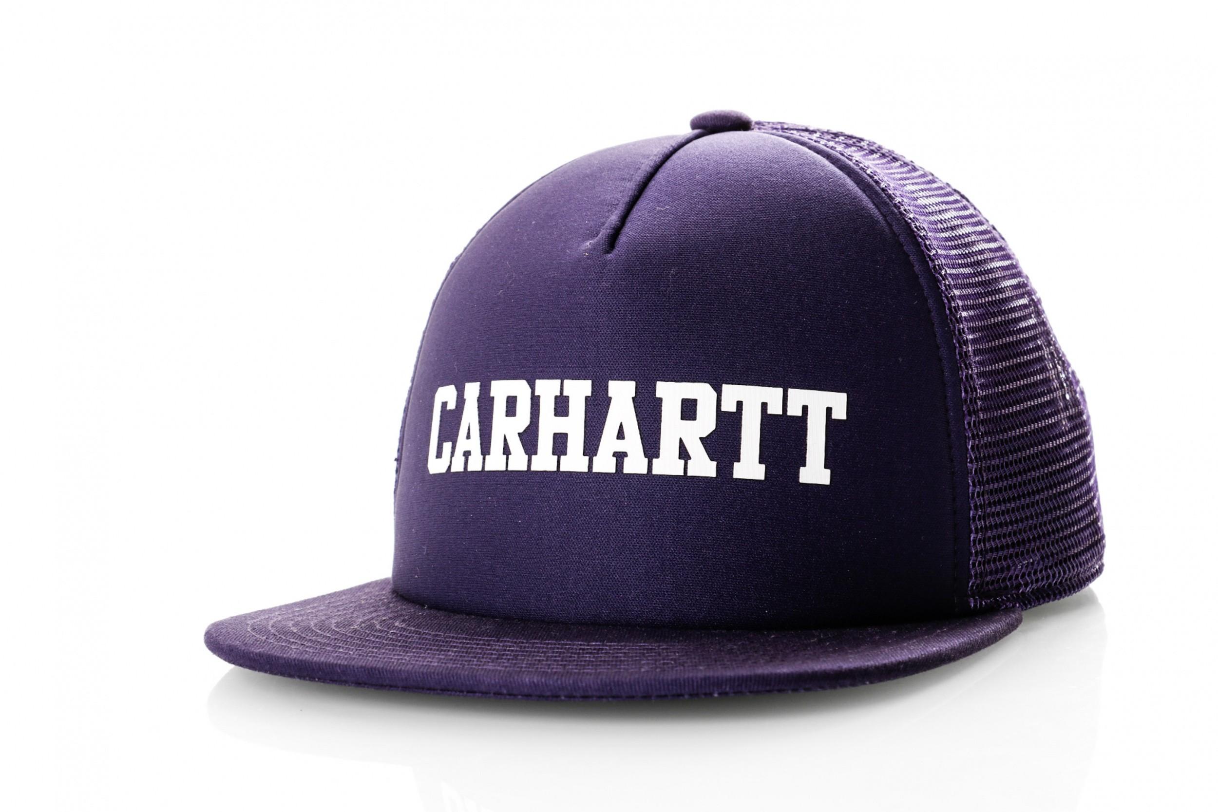 Foto van Carhartt Wip College Trucker Cap I025652 Trucker Cap Royal Violet / White