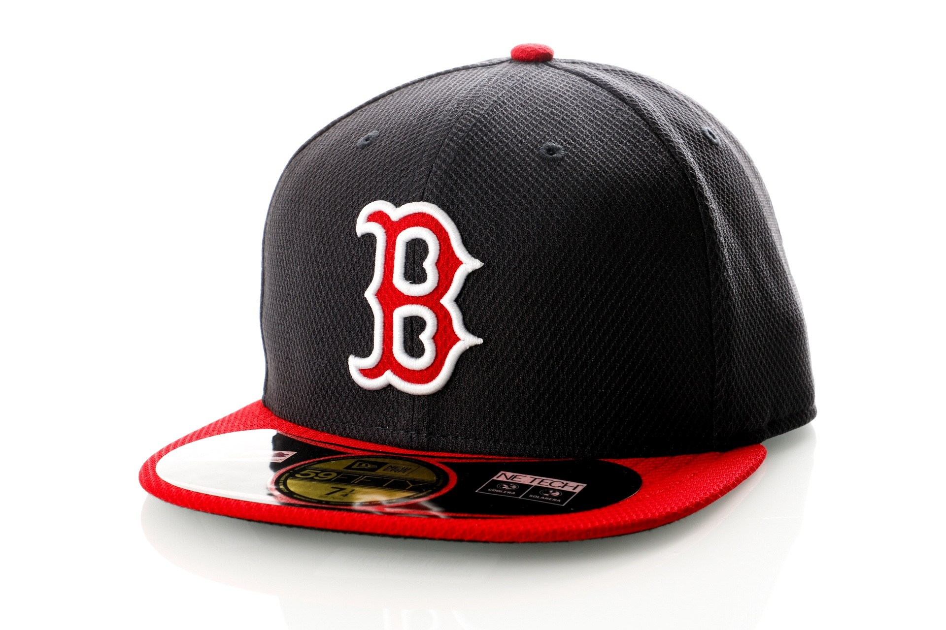Foto van New Era Diamond Era 21184488 Fitted Cap Blue/Red MLB Boston Red Sox