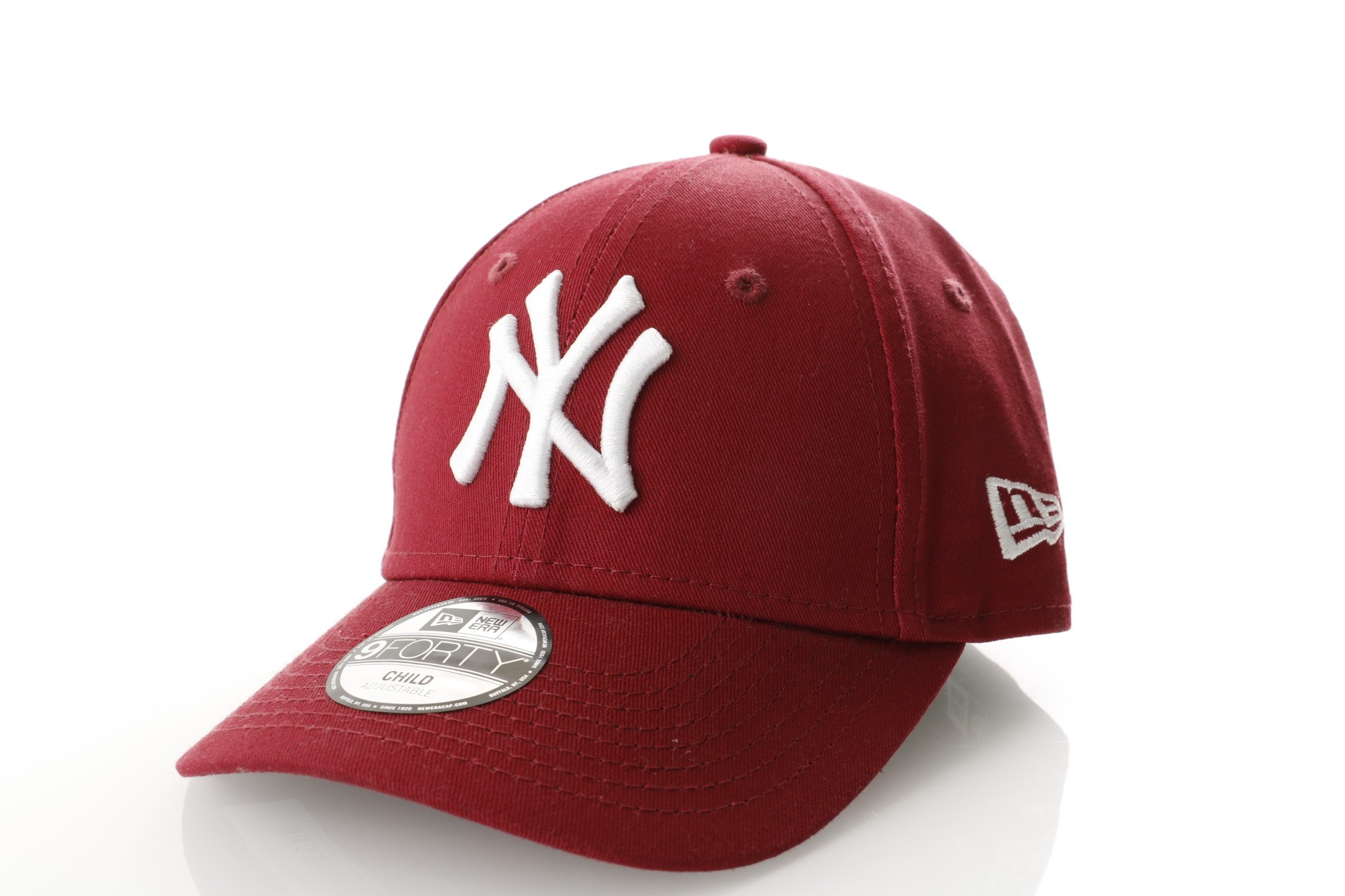 Foto van New Era KIDS LEAGUE ESSENTIAL 9FORTY NEW YORK YANKEES 80635915 dad cap CARDINAL/OPTIC WHITE MLB