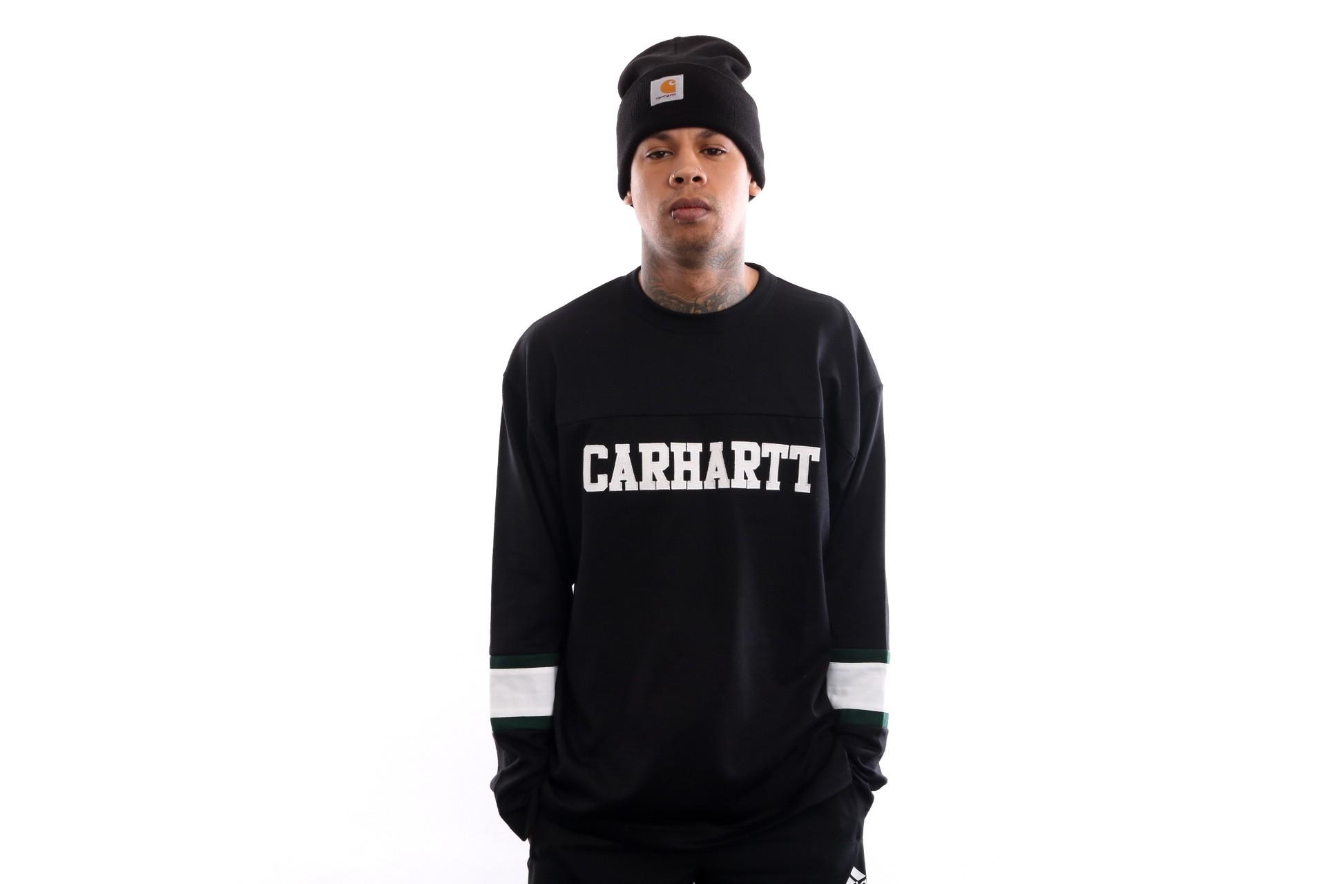 Foto van Carhartt Wip L/S Thorpe College T-Shirt I026412 Longsleeve Black