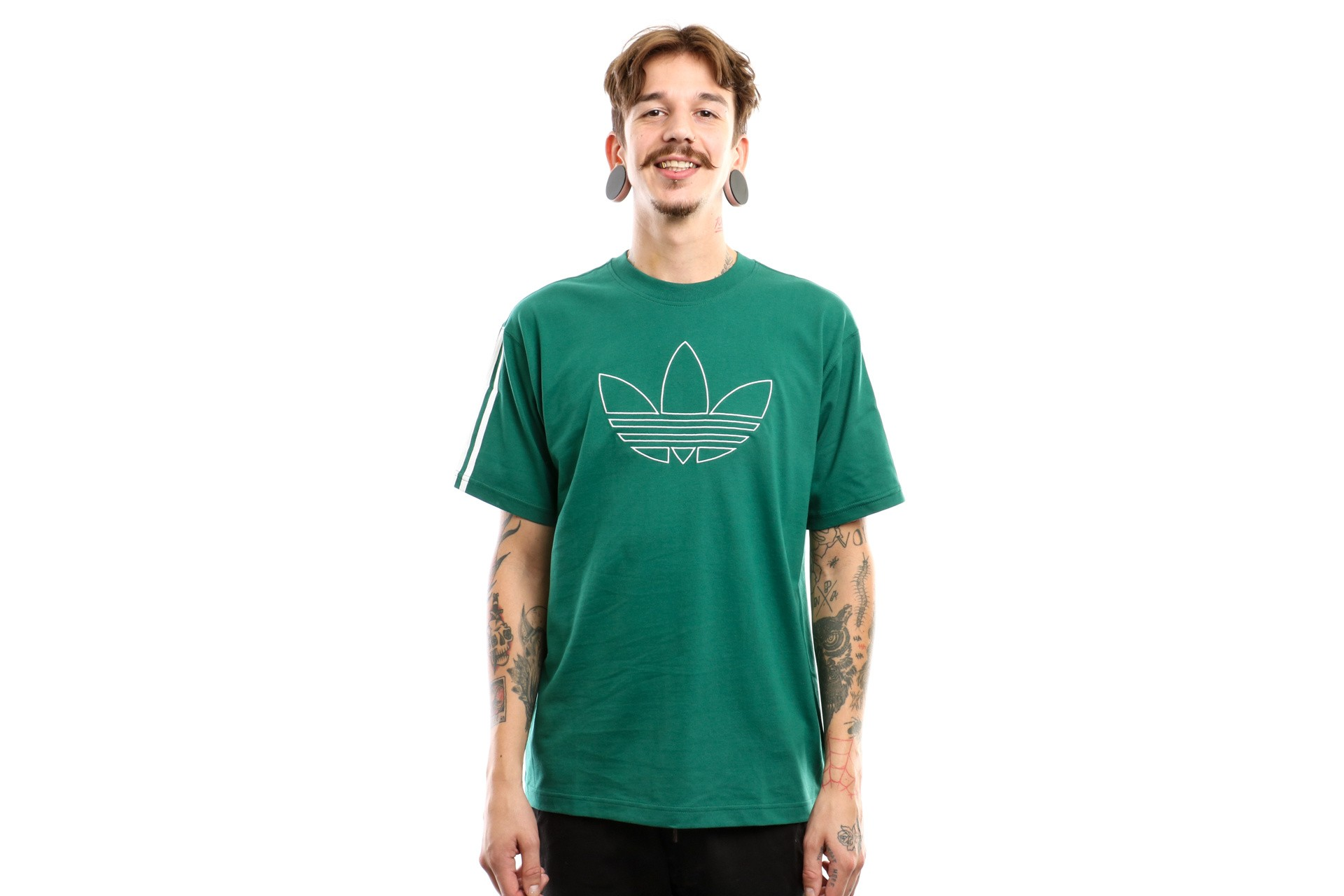Foto van Adidas Outline Tre Tee Ej7118 T Shirt Collegiate Green
