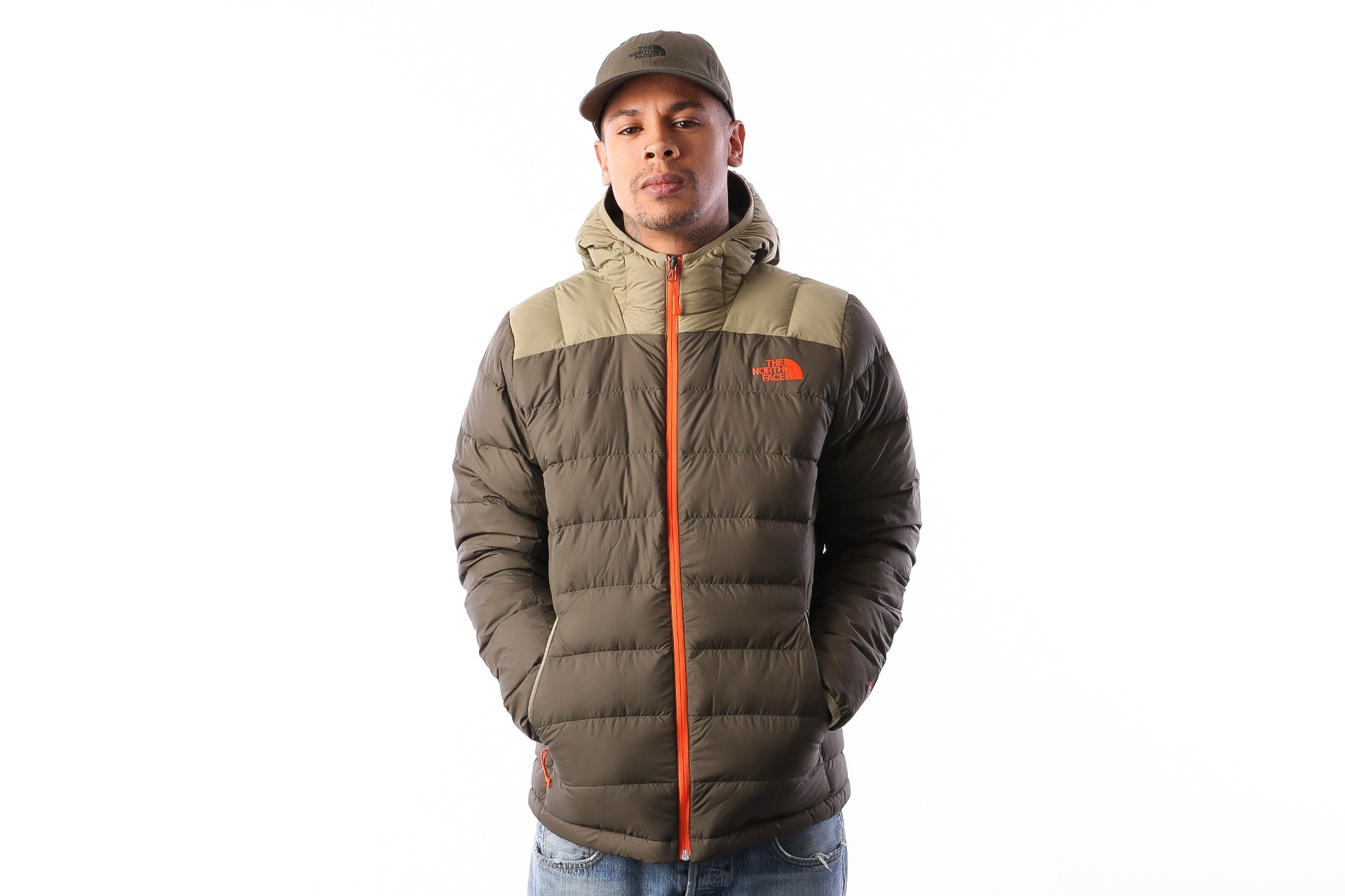 Foto van The North Face M LA PAZ HOODED JKT T0CYG95XE jas NEWTAUPEGRN/TUMBLEWEEDGRN