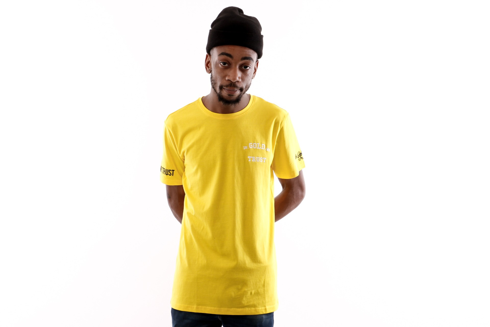 Foto van In Gold We Trust Logo Tee FA-069 T Shirt Yellow